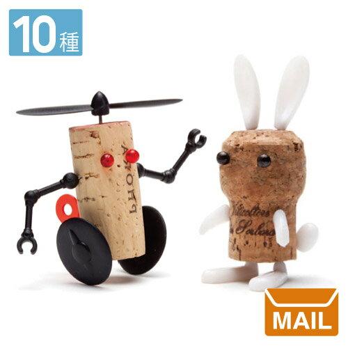 【 メール便 】 ワイン シャンパン 動物 ロボット コルク Animal Corkers アニマル コルカー 【 MONKEY BUSINESS/モンキービジネス 】 全10種類 おもしろ / WakuWaku