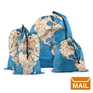 【 メール便 】 トラベルポーチ 世界地図 バック アラウンド ザ ワールドトラベルバッグセット【KIKKERLAND/キッカー ランド】Around The World Travel Bag Set / WakuWaku