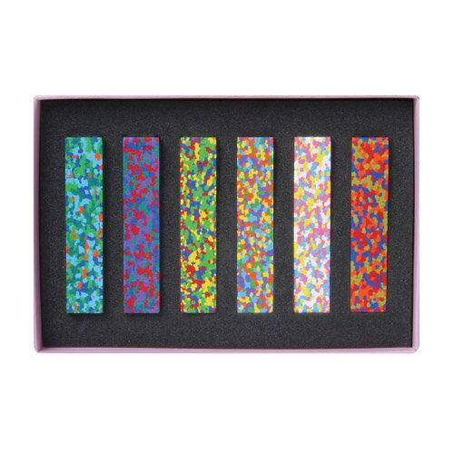 【 メール便 】 クレヨン ドットフラワーズクレヨン ドットミュゼクレヨン 【 AOZORA / あおぞら 】 Dot Flowers Crayon Dot Musee Crayon 色が混ざったような モザイク おもしろ文具 / WakuWaku