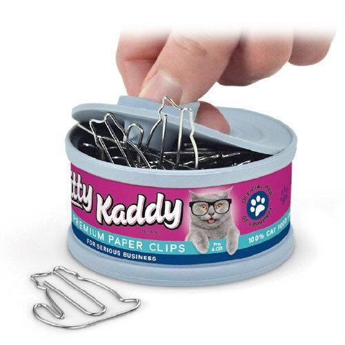 クリップホルダー ネコ缶 ねこ クリップ キャットフード 【 FRED / フレッド 】 KITTY KADDY おもしろ文具 文房具 雑貨 海外 珍しい ネコ / WakuWaku