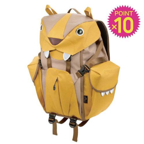 ポイント10倍 < L サイズ >リュックサック バックパック ライオン Big Cat Backpack ビッグキャット ナイロン【MORN CREATIONS / モーンクリエイションズ】イエロー / WakuWaku