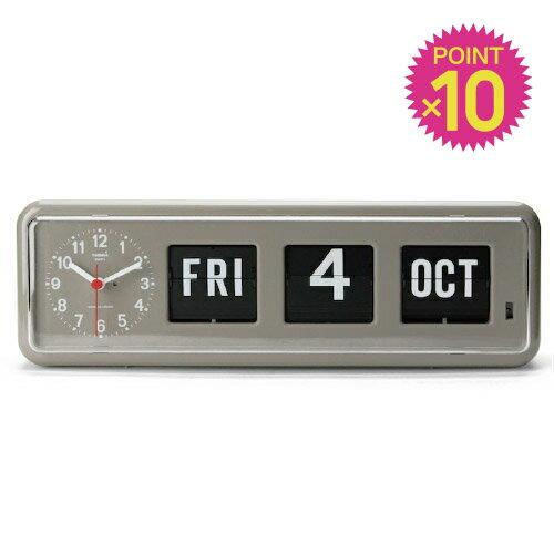 ( 送料無料 ) 日にち表示 時計 パタパタクロック トゥエンコデジタルカレンダークロック 【 TWEMCO / トゥエンコ 】Twemco Digital Calendar Clock カレンダー 付き フリップ時計 新築 開店 設立 祝い プレゼント / WakuWaku