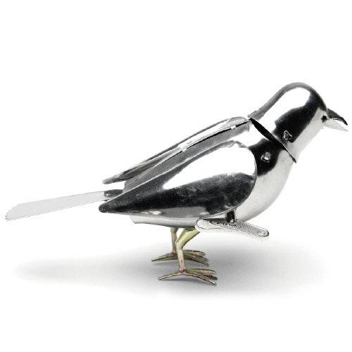 Roost Polished Steel Wind Up Bird ポリッシュッドスチールワインドアップ バード 鳥
