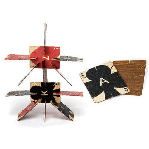 木製 トランプ プライウッド トランプ 【 AREAWARE / エリアウエア 】Plywood Playing Cards デザイン オブジェ 変わった デザイン 海外 珍しい ディスプレイ / WakuWaku