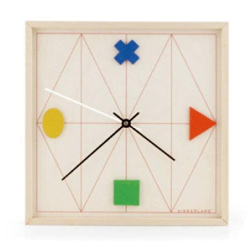 時計 壁掛け時計 ジオメトリックウッドクロック 【KIKKERLAND/キッカー ランド】 Geometric Wood Clock 木製 デザイン / WakuWaku