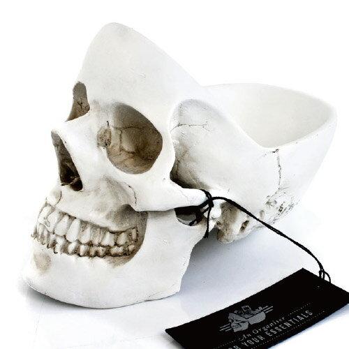 ( 送料無料 ) 小物入れ 骸骨 スカル ガイコツ スカルヘッドトレイ 【 Suck UK / サックユーケー 】Skull tidy 海外 プレゼント おもしろ 雑貨 オブジェ インテリア アクセサリー スマホ 鍵 入れ / WakuWaku