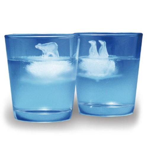 おもしろ 氷 アイストレー 製氷皿 ロックアイス 人気 アイストレー ポーラーアイス 【 monos / モノス 】 Polar Ice シリコン 氷山 シロクマ ペンギン 丸い プレゼント / WakuWaku