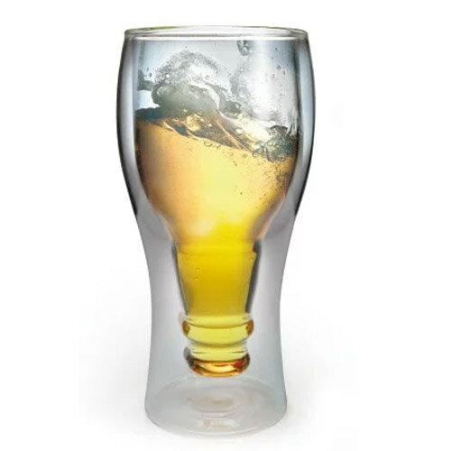 おもしろ プレゼント おもしろ雑貨 ビールジョッキ Beer ビール グラス 冷たい 二重構造 ビアジョッキ ダブルレイヤーグラス Double Layer GLASS ワイングラス ワイン 好き 乾杯 ビール瓶 / WakuWaku