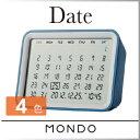 ( あす楽 ) カレンダー MOTO シンプル デザイナー デジタルカレンダークロック date かっこいい デザイン スタイリッシュ プレゼント 使いやすい ...