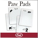 ( あす楽 ) ノート ネコ 黒猫 セット 【 Fred / フレッド 】 PAW PADS sticky notepads かわいい クロネコ 猫 デザイン ...