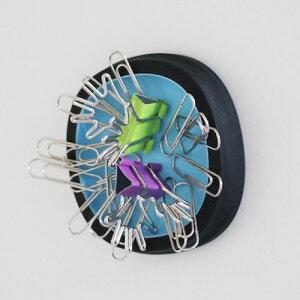 【 メール便 】 クリップホルダー マグネット 磁石 おしゃれ ホワイト ブルー シンプル ケース 書類 クリップ ホルダー 置き 便利 Clip case デザイン 使いやすい / WakuWaku