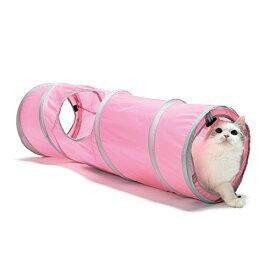 猫壱 キャットトンネルスパイラル ピンク
