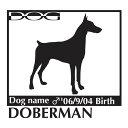 犬 ステッカーA ドーベルマン Lサイズ
