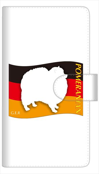 AQUOS sense SH-01K SHV40 ケース 全機種対応 手帳型 スマートフォンケース 多機種対応【ポメラニアン】iPod touch 6 Xperia Z5 compact SO-02K SO-01K SH-01K iPhone6横開き 革 レザーケース カバー 手帳式 ペット イヌ