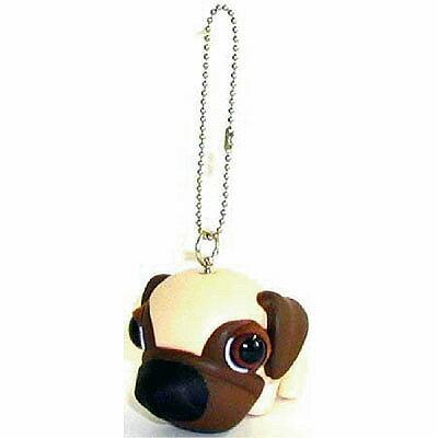 犬 マスコット THE DOG キーホルダー [ パグ (ホワイト) ] フィギア いぬ 犬 人形 アクセサリー グッズ