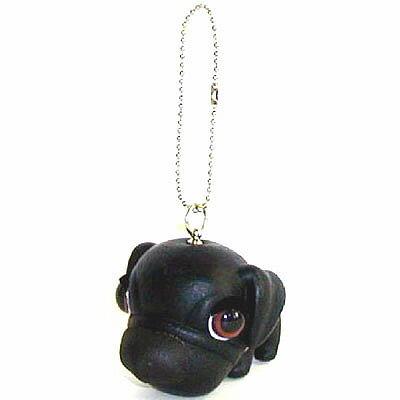 犬 マスコット THE DOG キーホルダー [ パグ (ブラック) ] フィギア いぬ 犬 人形 アクセサリー グッズ