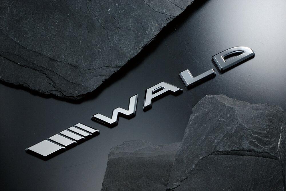 WALDセパレートスラッシュエンブレム クローム