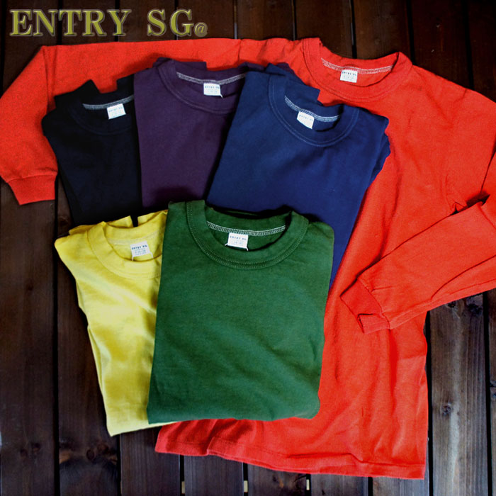 即納 吊り編み機で仕上げた、素材の良さを味わう長袖Tシャツ ENTRY SG(エントリーSG) EXCELLENT WEAVE PLUS 【あす楽対応】