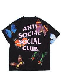 アンチソーシャルソーシャルクラブ ANTI SOCIAL SOCIAL CLUB バタフライ ショートスリーブ Tシャツ BUTTERFLY SS T-SHIRT -BLACK- メンズ L-XL ブラック