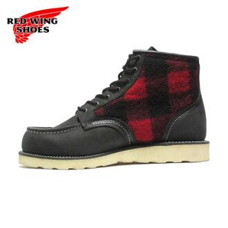 RED WING紅翅膀長筒靴9001伐木工人RW-9001 LUMBERJACK黑色伐木工人+紅黑色烏爾裏克纖維[工作長筒靴·airisshusetta、MADE IN USA]