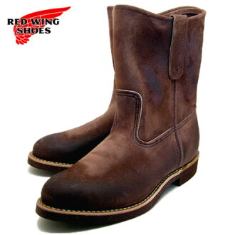 "RED WING紅翅膀長筒靴8189 9 inchipekosuropa RW-8189 9""PECOS ROPER胡桃黑尾鹿斯金納WALNUT MULESKINNER[工作長筒靴·pekosuropa、MADE IN USA]"