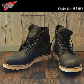 "RED WING RW-8190 CLASSIC WORK/6"" ROUND-TOE CHARCOAL ROUGH & TOUGH"