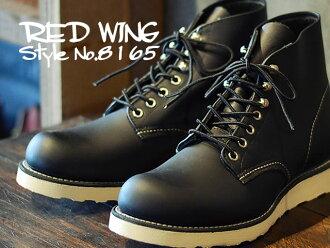 """紅翼紅靴 8165 經典著作和 6 英寸圓 RW 8165 經典工作/6""""圓頭黑鉻黑鉻色"""