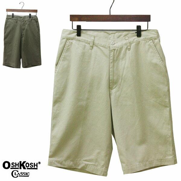 OSHKOSH classic(オシュコシュ クラシック)ハーフパンツ メンズ,ショーツ,ショートパンツ,チノ,パンツ,カジュアル,大きいサイズ,ビッグサイズ,LL,XL,アウトレット,アイボリー,カーキ