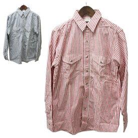 oshkosh(オシュコシュ)ストライプシャツ メンズ,シャツ,アメリカ製,USA,デッドストック,レア,希少,レッド,ネイビー,カジュアル,アメカジ,長袖