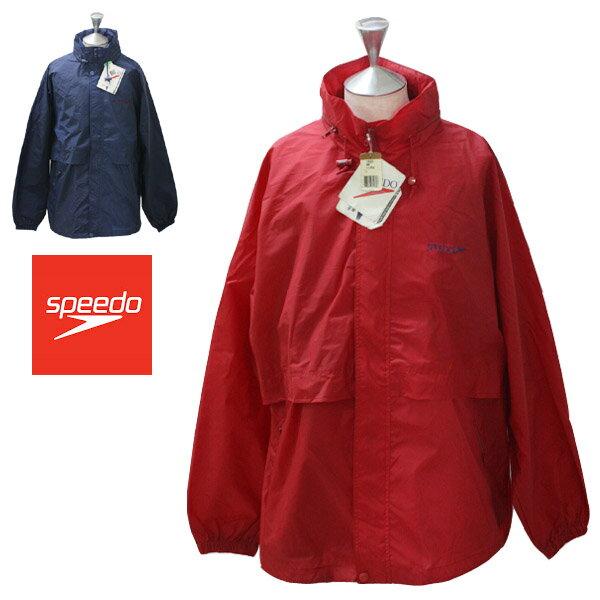 speedo(スピード)ナイロンジャケット メンズ,ジャケット,ネイビー,レッド,スポーツ,海外,ブランドデッドストック,希少,レア