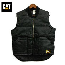 キャタピラー (Caterpillar Inc.、NYSE:CAT) ベスト メンズ ブラック 【USAデッドストック】 アメリカ ワーク カジュアル アメカジ 希少 レア