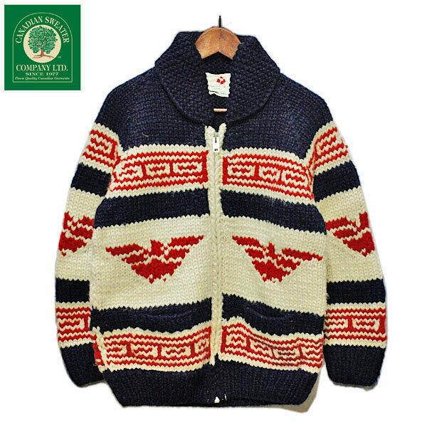 カウチンセーター メンズ カナディアンセーターカンパニー(Canadian Sweater Company)ジップアップジャケット,ニット,アメカジ,カジュアル,ナチュラル,デッドストック