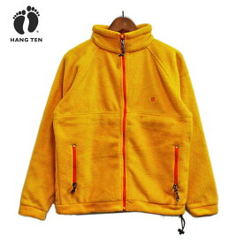 HANGTEN (ハンテン) フリースジャケット メンズ イエロー 【アウトレット】 フリース オレンジ サーフカジュアル カジュアル おしゃれ シンプル 【セール】