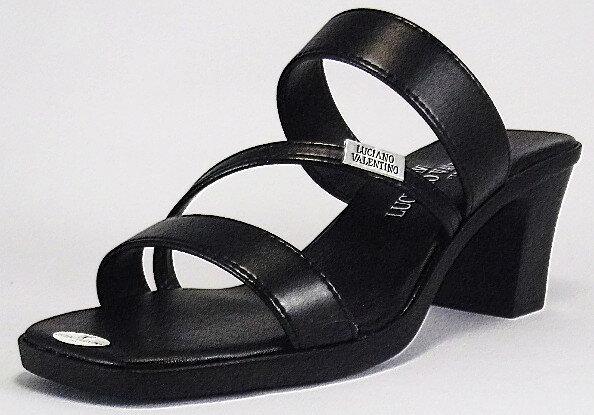 【LUCIANO VALENTINO】3971 ブラック【サンダル】【婦人靴】【ヒール】