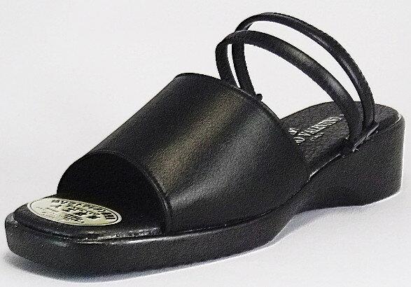 【LUCIANO VALENTINO】6005 ブラック【サンダル】【婦人靴】【ベルト】
