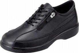 【SPORTH】スポルス7417 ブラック 3E【婦人靴】【本革】【サイドファスナー】