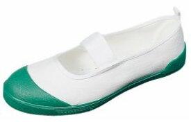 【テフロン加工上履き】テフカラー グリーン2E【子供靴】【上履】【スクール】【緑】【定番】【国産】