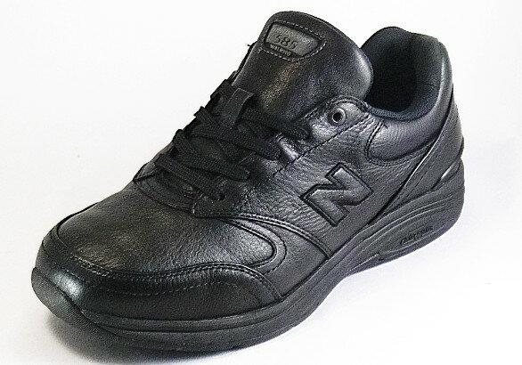 【new balance】MW585BKブラック2E【紳士靴】【ウォーキング】【本革】【幅広】【防水加工】【内側ファスナー】