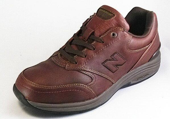 【new balance】MW585WBウッドブラウン2E【紳士靴】【ウォーキング】【本革】【幅広】【防水加工】【内側ファスナー付】