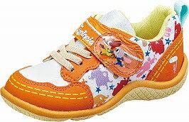 【Disneyズートピア】DN-C1186オレンジ2E【子供靴】【ズートピア】【通園】【洗えるインソール】【Ag+抗菌防臭】【つま先ゆったり】【ジュディとニック】