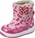 【Disney】DN-WC017ESP ピンク2E【ブーツ】【ウインター】【子供靴】【ミッキー&ミニー】【防水設計(4cm×4時間)】【スパイク付】【ボア中敷】【フットブランケット】