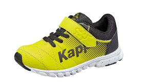 【Kappa】KP-SPC16ディーヴォ イエロー/ブラック2E【子供靴】【軽量設計】【通園】【合皮】【抗菌防臭中敷】【つま先ゆったり】【カウンターホールド】