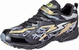 【バネのチカラ】スーパースターJ765ブラック2E【子供靴】【通学履】【パワーバネ】【軽量設計】【イナズマスプリンター】【洗えるインソール】【耐摩耗ソール】【ハーフサイズ】