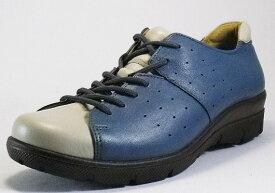 【SPORTH】スポルス2303ブルーC4E【婦人靴】【撥水加工】【本革】【幅広】【国産】【衝撃吸収】【ベステック】【シフォンリラックス】【軽量設計】【ガーメントレザー】【Made in Japan】