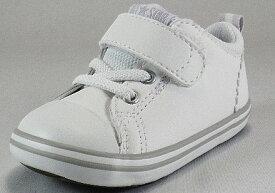 【CONVERSE】ミニ オールスターN V-1 ホワイト/グレイ【ベビー靴】【子供靴】【リムーバルインソール】【ルーミーラスト】【7CL504】