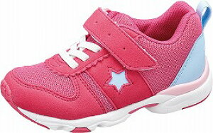 【MOONSTAR】MS-C2257ピンク1E【通園靴】【子供靴】【カウンターボックス】【つま先ゆったり】【フレックスジョイント】【スタビライザー】【機能性カップインソール】【ハーフサイズ】【カ