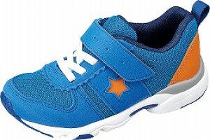 【MOONSTAR】MS-C2257ブルー1E【通園靴】【子供靴】【カウンターボックス】【つま先ゆったり】【フレックスジョイント】【スタビライザー】【機能性カップインソール】【ハーフサイズ】【カ