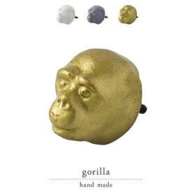 メタルドアノブ gorilla 引き出し 取っ手 取手 つまみ アンティーク ボックス用 ドアつまみ 引き出し用つまみ リメイク リメイク雑貨 パーツ ツマミ タンス 交換 収納棚 キャビネット ハンガーフック 引手 引き手 ゴリラ
