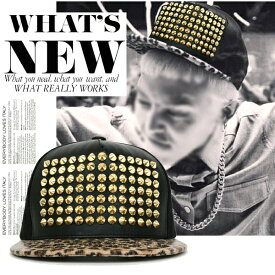 Bigbang 帽子 スナップバッグ キャップ 帽子 ゴールド スタッズ Gold Studded ヒップホップ ストリート ダンス ファッション ハット BigBang ビッグバン G-Dragon gdragon ジヨン gd レディース メンズ UV 男性 女性 グッズ