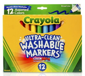 [送料無料] クレヨラ ブロードライン ウォッシャブルマーカー 12本入り 3箱セット 子ども お絵描き Crayola [楽天海外直送]
